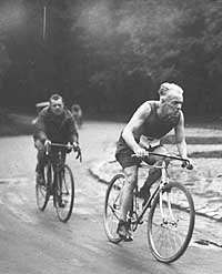 Desgrange on a bike